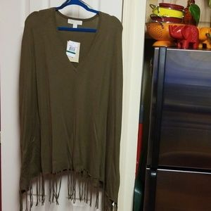 Michael Kors Fringed Sweater Shawl